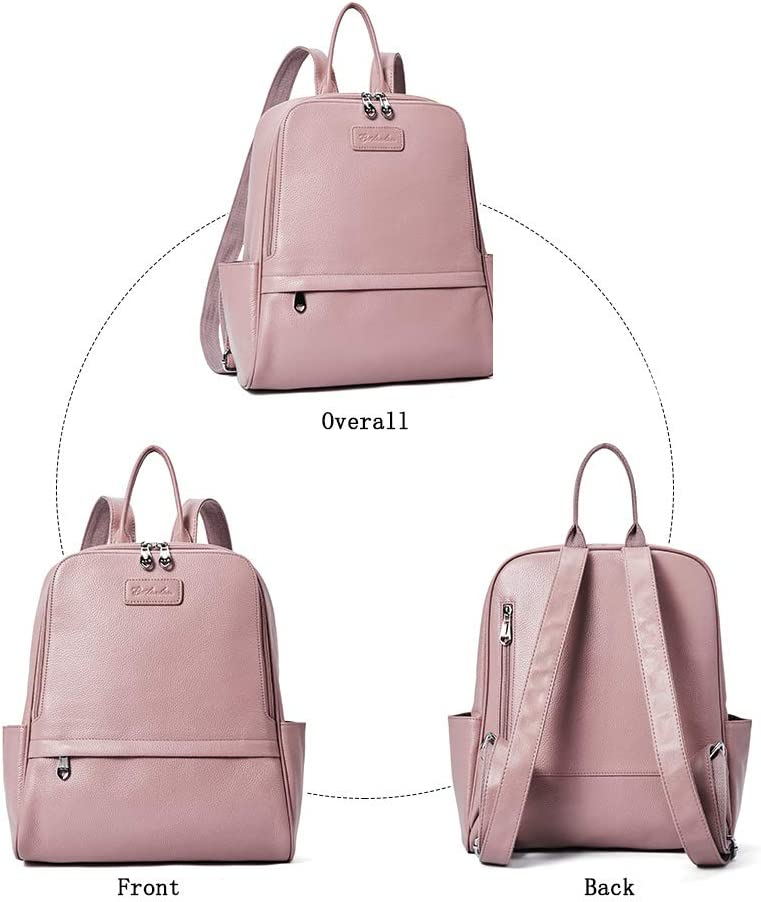 BOSTANTEN Women Leather Backpack Purse Shoulder Travel Bags Casual Daypack