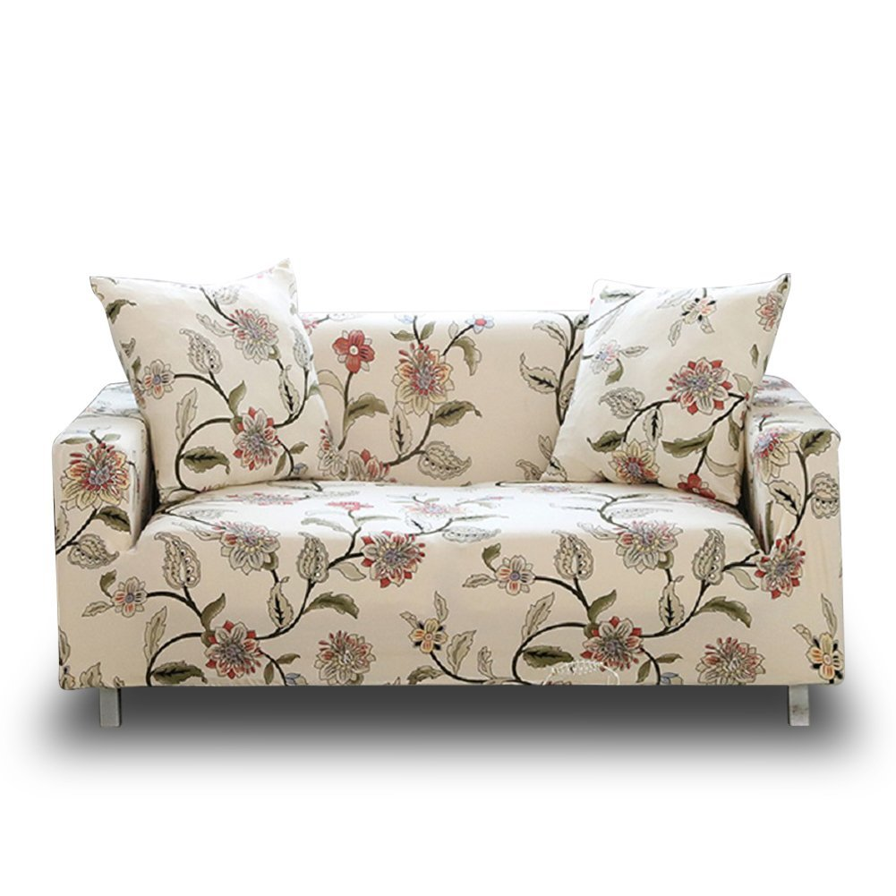HOTNIU Stretch Sofa Couch Cover - Fitted Pattern Slipcovers for 1 2 3 4 Seat Armchairs/Loveseats/Sofas/Sectional Couches (Chair 35'' - 51'', Pattern #10)
