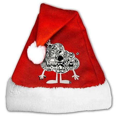 Nube Graffiti terciopelo Fuentes del partido de Navidad sombreros ...