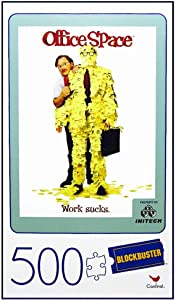"""Cardinal Blockbuster Movie Poster Puzzle: Office Space - 18""""x24"""", 500 Pieces"""