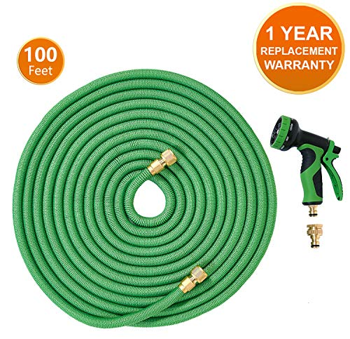 ANSIO Garden Hose Pipe Expandable Water Hose 100 Ft/30M with Brass Connectors, 9...