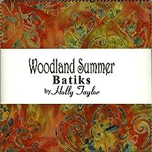 Moda Woodland Summer Batiks 5'' Charm Pack