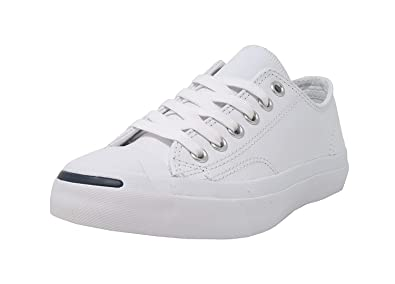 952ce0bd3d4 Image Unavailable. Image not available for. Color  Converse Jack Purcell  Synthetic Leather White Shoes Unisex Shoes Men Women (8.5 ...