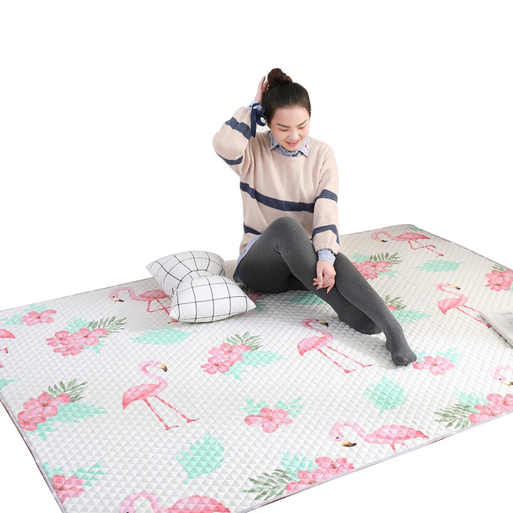 White Cotton Solid Color Household Tatami mat Crawling mat Machine Washable Washable