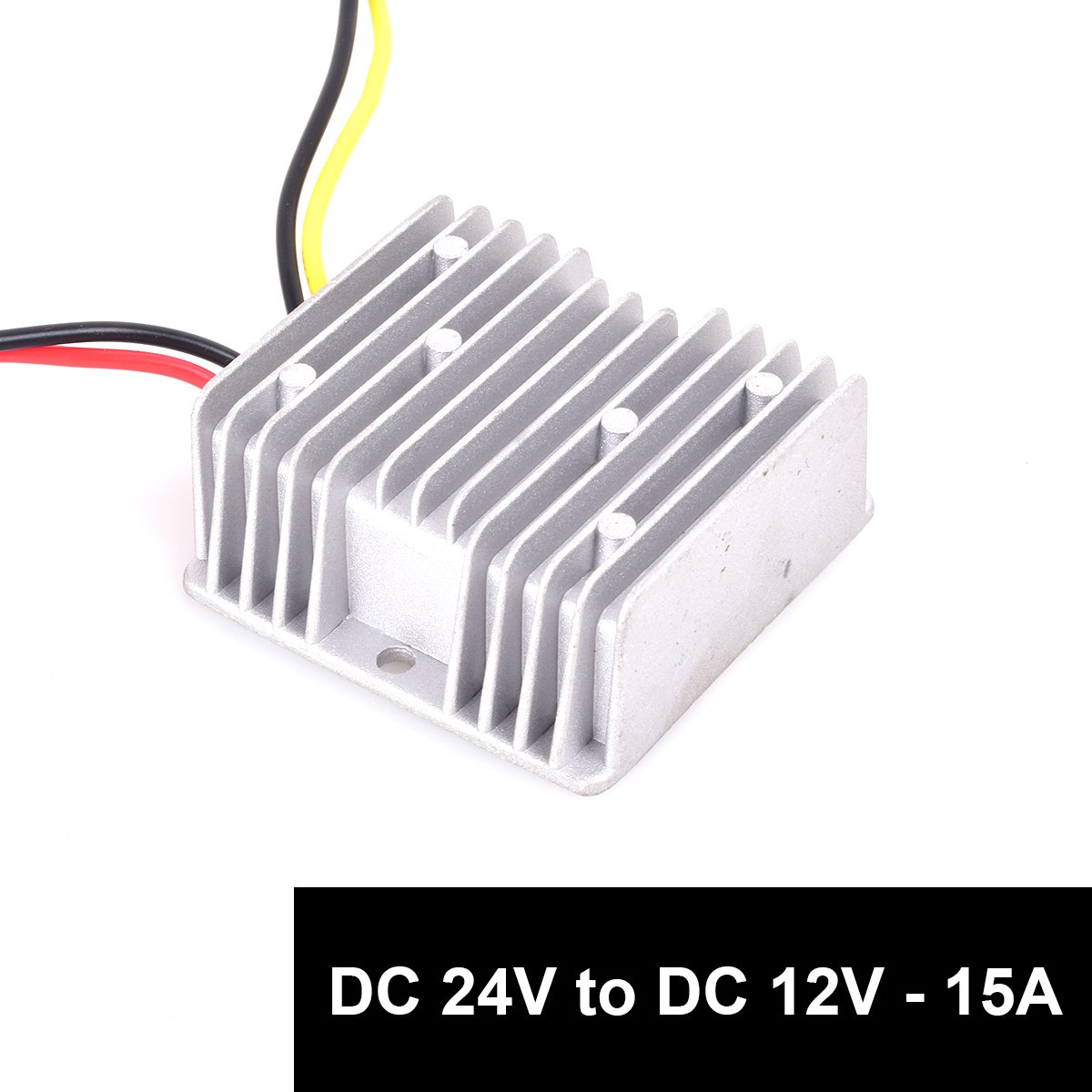 DC 24v to DC 12v Step Down 15A 180W Truck Car Power Supply Adapter Converter Reducer Regulator for Auto Car Truck Vehicle Boat Solar System etc.(DC15-40V Inputs)