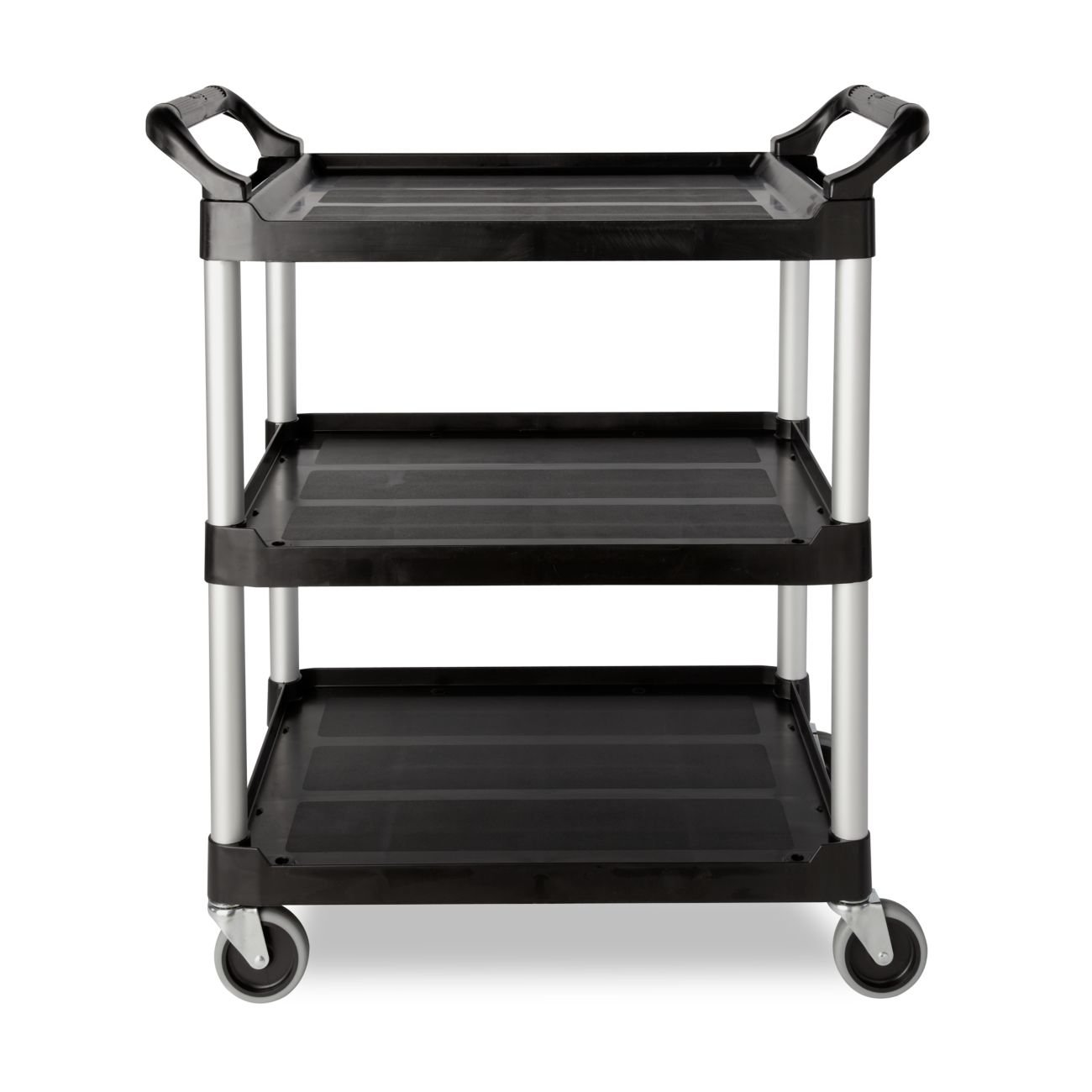 amazoncom rubbermaid commercial 342488bla economy plastic cart threeshelf 1858w x 3358d x 3734h black industrial u0026 scientific
