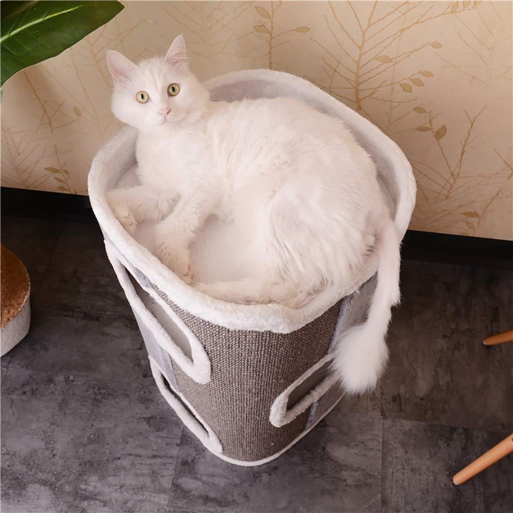 QAHMPJ Cat Litter Litter Litter Cat House, Scratch Post, Forte Circolare (Dimensioni   42  42  75cm) 3e48fc