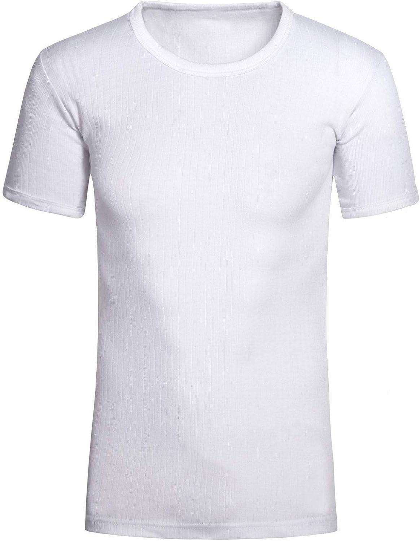 Medium, White Mens Thermal Long Vest Full Sleeve Top Extreme Warm Winter Heat Ski Wear Size S-XXL