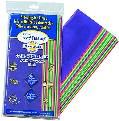 Amazon Com Spectra Tissue Assorted Brite Color Set Of 3 Arts Crafts Sewing