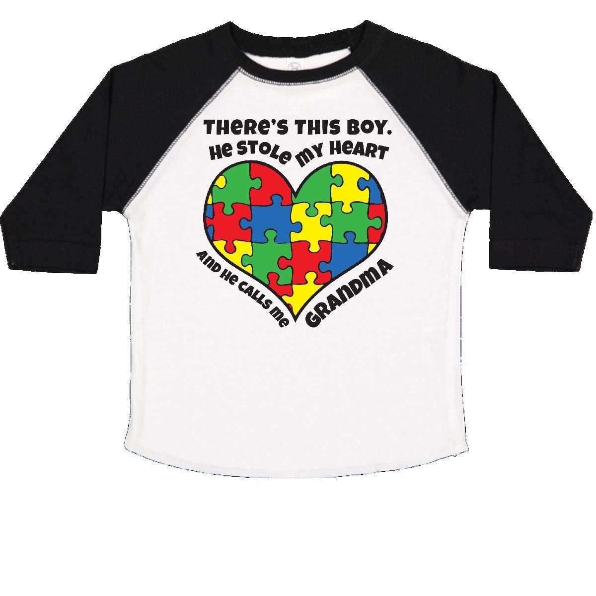 inktastic Grandma of Autistic Grandson Toddler T-Shirt