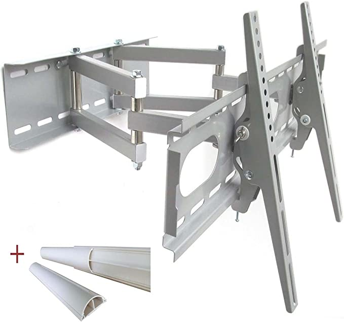 TV soporte de pared (plata) giratorios, de doble brazo para LCD LED Plasma, hasta 140 cm (55 pulgadas), VESA 200x200 mm a 660X400, Distancia de la pared de 12 cm: Amazon.es: Electrónica