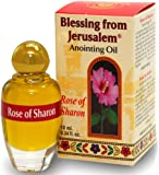 Holy Land Market Blessing from Jerusalem Anointing Oil - 10ml (.34 fl. oz.) (Rose of Sharon)