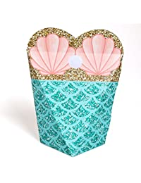 Let's Be Mermaids - Baby Shower or Birthday Party Favors - Gift Favor Boxes for Women & Girls - Set of 12 BOBEBE Online Baby Store From New York to Miami and Los Angeles