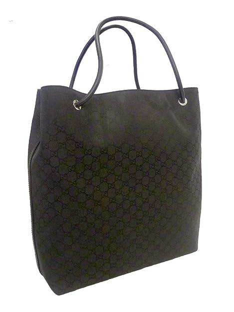 3c9a9af6855 Gucci Gifford Black Nylon Borsa Large Tote Bag: Amazon.ca: Shoes & Handbags