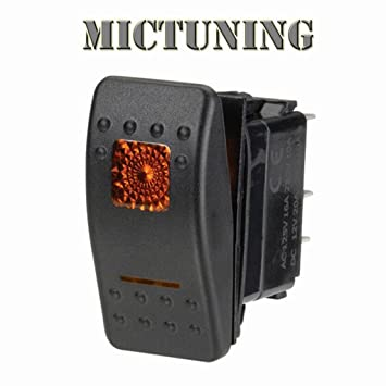 MICTUNING 5 Pin Rocker Switch Wire Set With Male// Female Terminal