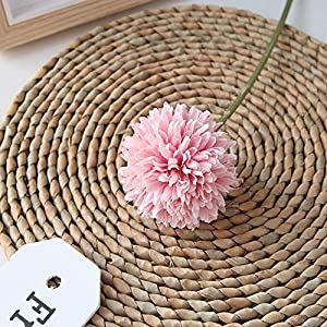 Homyu Artificial Chrysanthemum Ball Flowers Bouquet 10pcs Present for Important People Glorious Moral for Home Office Coffee House Parties and Wedding 2