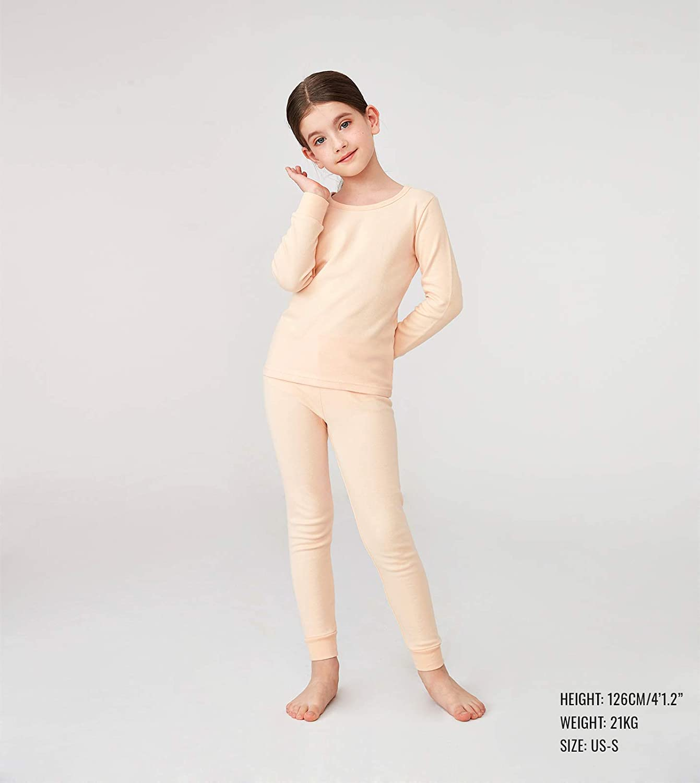 LAPASA Kid/'s Thermals Underwear Set Waffle Cotton Thermal Underwear Lightweight Skin Base Layer Bottom/&Tops B06,G06