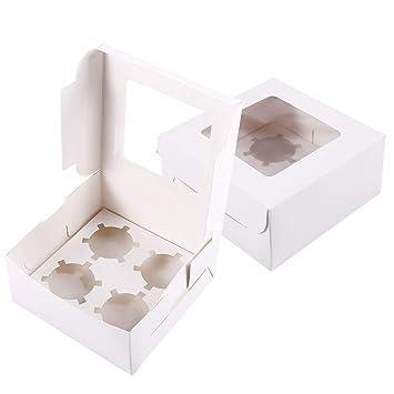 SurePromise - Cajas de cartón para magdalenas (2 unidades ...