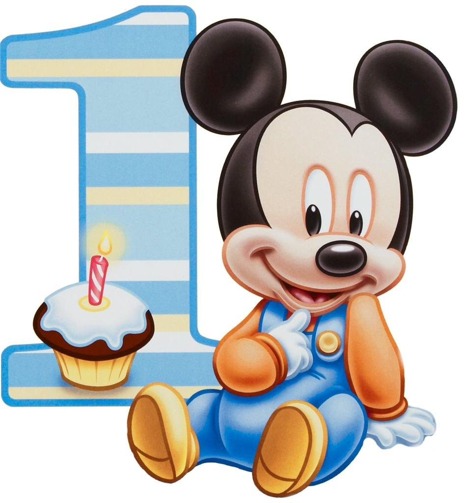 Amazon Baby Mickey Mouse One Year 1st Birthday Edible Image