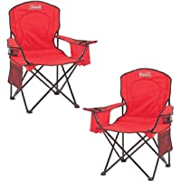 $65 » Coleman Portable Camping Quad Chair with 4-Can Cooler