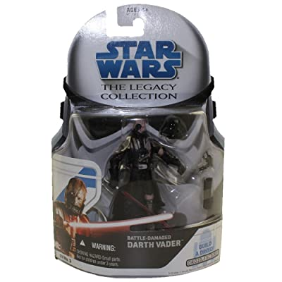 Hasbro Star Wars The Legacy Collection Battle Damaged Darth Vader Action Figure: Toys & Games