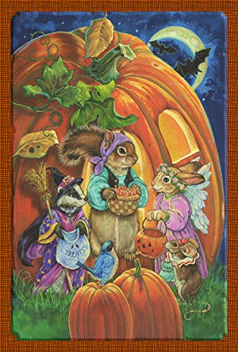 Toland Home Garden Critter Halloween 28 x 40 Inch Decorative Trick or Treat Animal Jack-O-Lantern Pumpkin House Flag ()