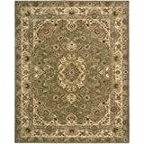Nourison Nourison 2000 (2028) Olive Rectangle Area Rug, 7-Feet 9-Inches by 9-Feet 9-Inches (7'9