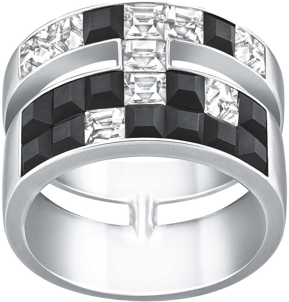 Viktor Swarovski y cristales tamaño extra anchos para hombre anillo Rolf Frozen 55 5098914
