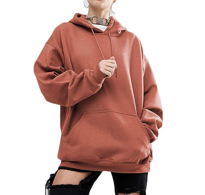 f5c3fdf261f7dd Kapuzenpullover Damen Kapuzen Einfarbig Pullover Hoodie Fledermausärmel Lose  Sweatshirt Frauen Lässige Outwear Kapuzenpulli Große Größen S