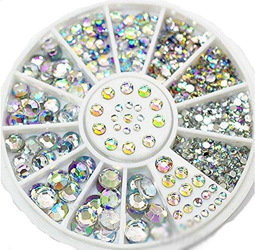 Straßrad mit ca. 450 ++CRYSTAL-IRISIERENDEN++ Straßsteinen: RUND 1,5mm, 2mm, 3mm, 4mm und 5mm