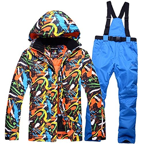 YFF thicken winter ski suit for men outdoor snowboarding skiing jacket + pants set 7 XL LEIT