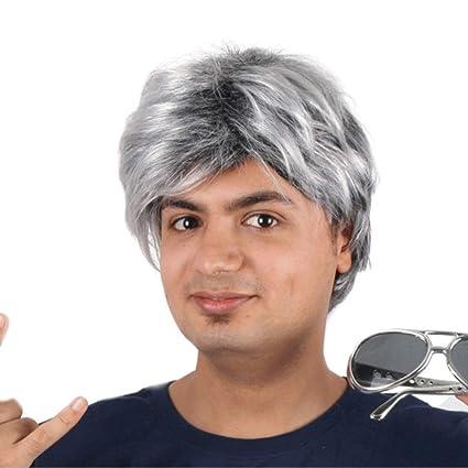 Meen La Peluca para Hombre, Moda Pelo Corto y Recto 3 Colores Puede ser seleccionada