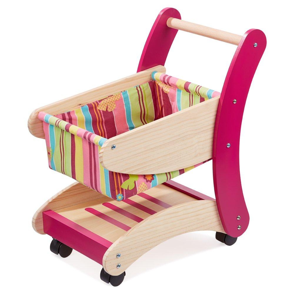 Kinder Einkaufswagen Holz - howa Einkaufswagen Rosa