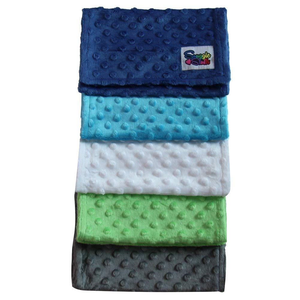 Choose Color Baby 5 Pack Minky Dot Burp Cloths