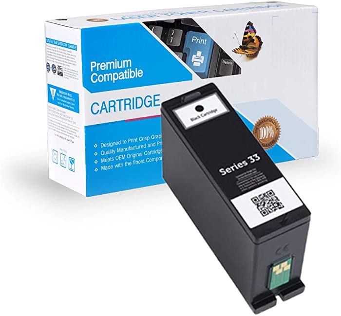Ink Now Premium Compatible Dell Black Ink Jet Series 31, 32, 33, 34, 331-7377, 331-7689 (XL) for Dell V525W, V725W Printers yld