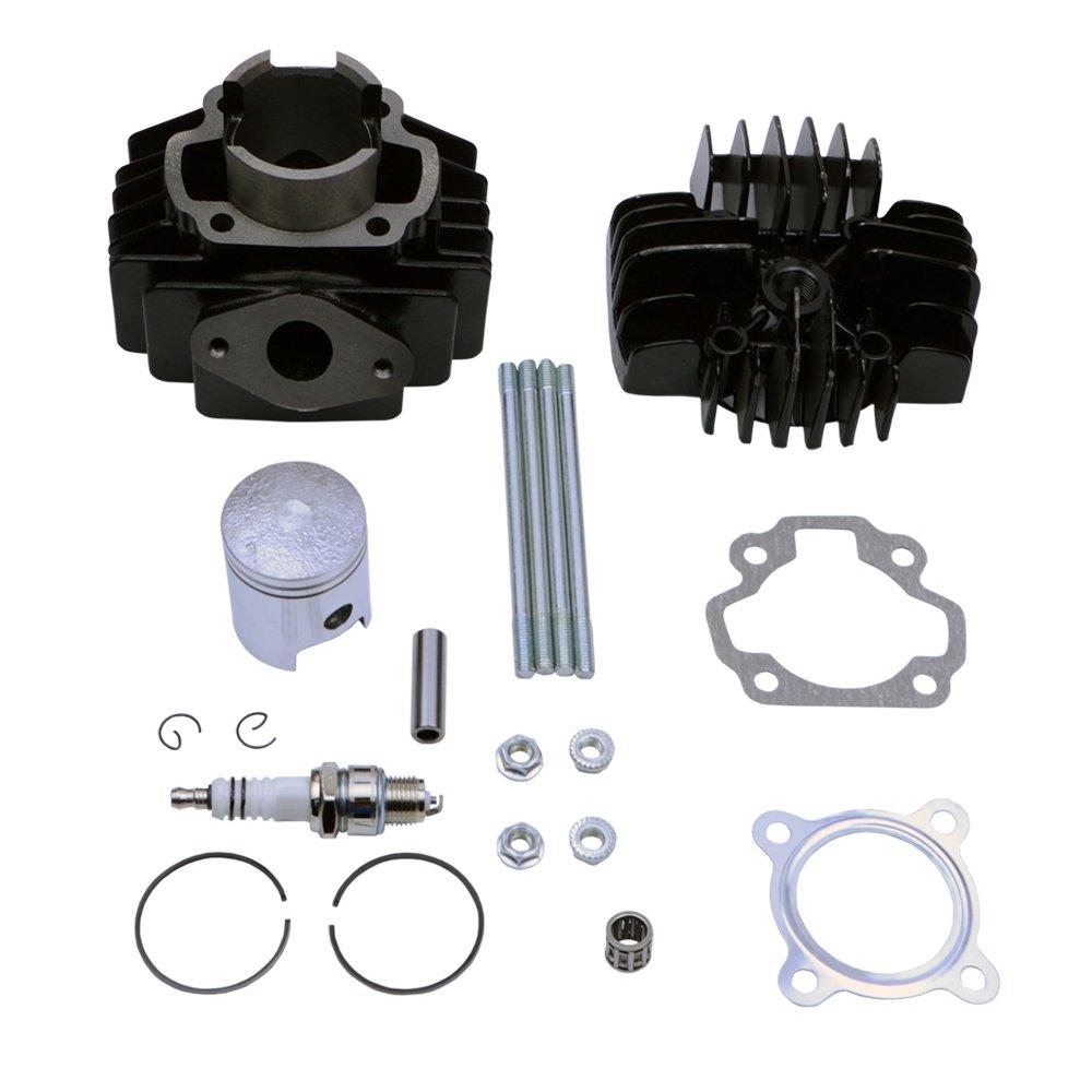 FLYPIG Cylinder Piston Gasket Head Top End Kit for Yamaha PW50 1981-2016