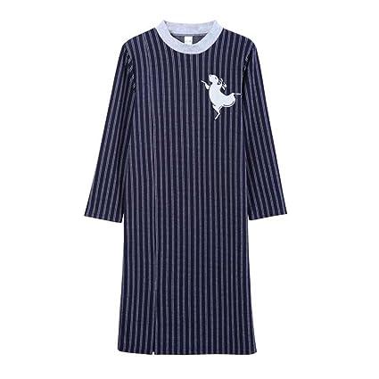 Pijama Falda para dormir para mujer y pijama casual para hombre Camisa de solapa para adulto