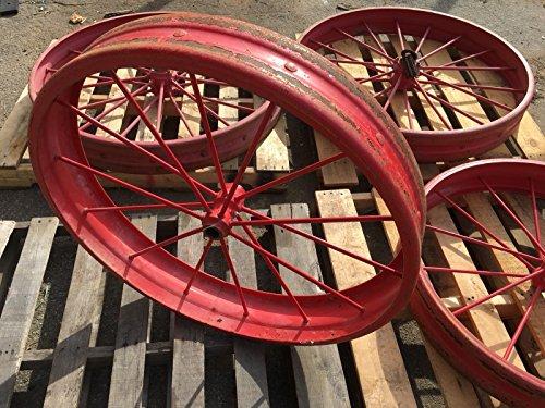 """F&H Vintage Tractor Wheel Set of 4 / 6"""" (Rear) 44"""" (Front) 36"""" RS-483 - 5210 JD"""