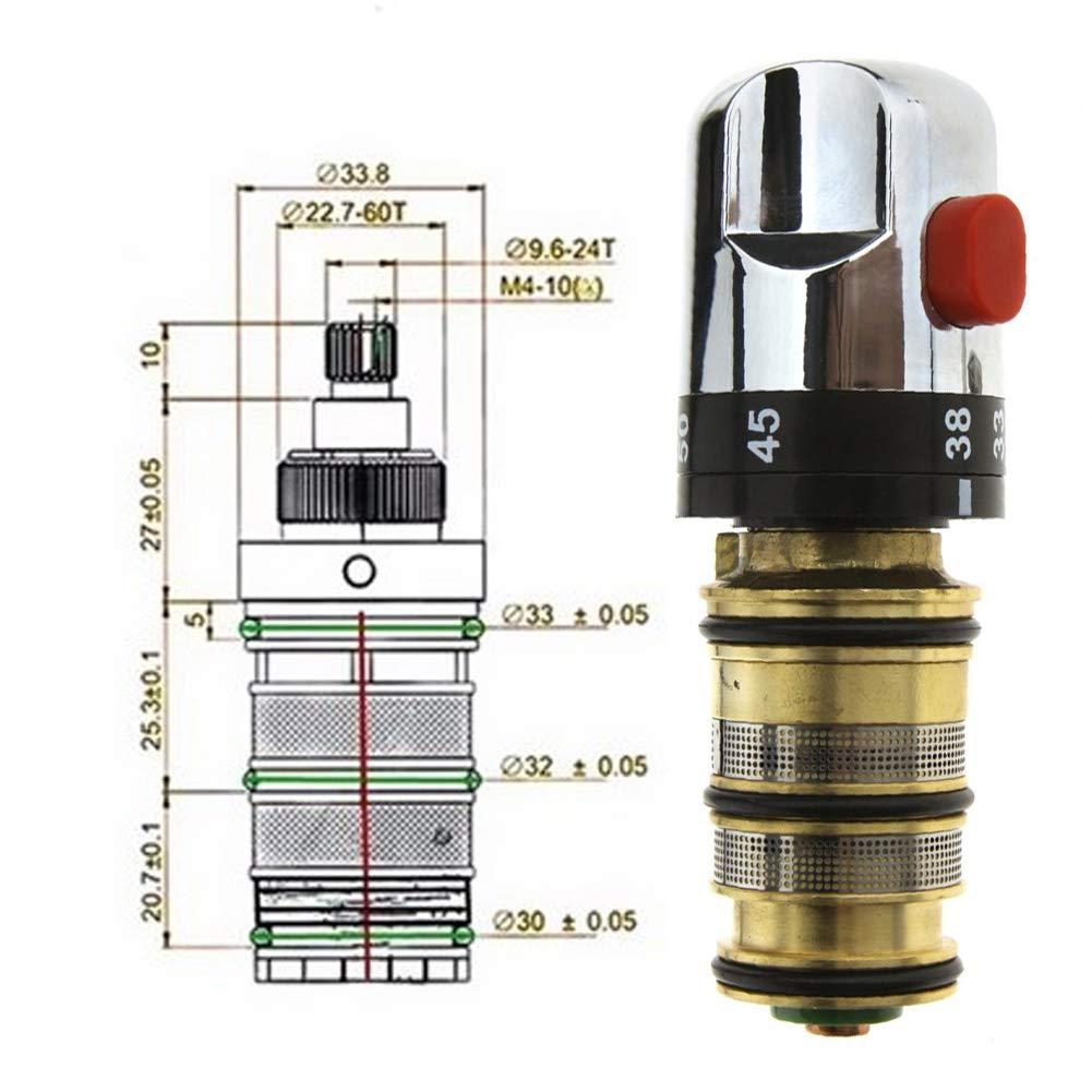 Vanne thermostatique cartouche de douche thermostatique en cuivre filetage thermostatique mitigeur robinet de douche poign/ée de rechange