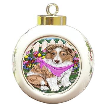 Australian Shepherd Christmas Ornament.Amazon Com Doggie Of The Day Spring Floral Australian
