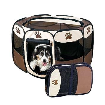 Wangs jaulas perro y gato valla para mascotas Caseta para gatos exterior plegable portátil