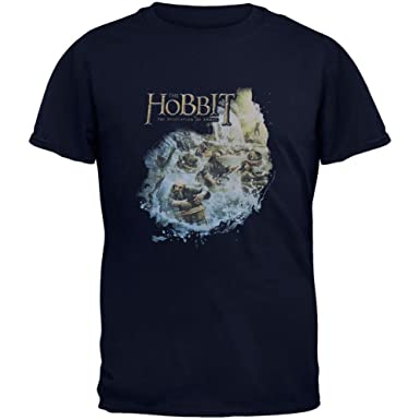 X-Large Black Boys Barreling Down Youth T-Shirt Old Glory The Hobbit