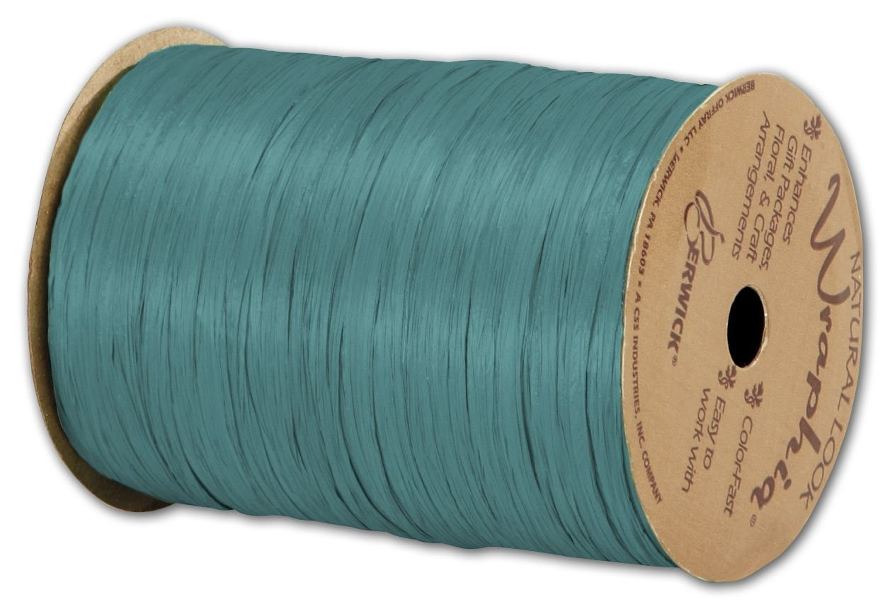 Solid Raffia - Matte Wraphia Teal Ribbon, 1/4' x 100 Yds (3/pack) - BOWS-74900-33 1/4 x 100 Yds (3/pack) - BOWS-74900-33 Miller Supply Inc.