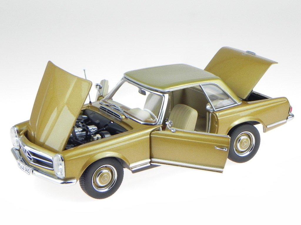 Mercedes R113 230 SL Pagode 1963 HT gold Modellauto 183503 Norev 1:18