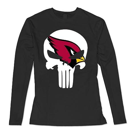 e6611fbbe7bb0 QDYJM Women's Arizona Cardinals Cardinals Punisher Long Sleeve T Shirt-Black:  Amazon.ca: Clothing & Accessories