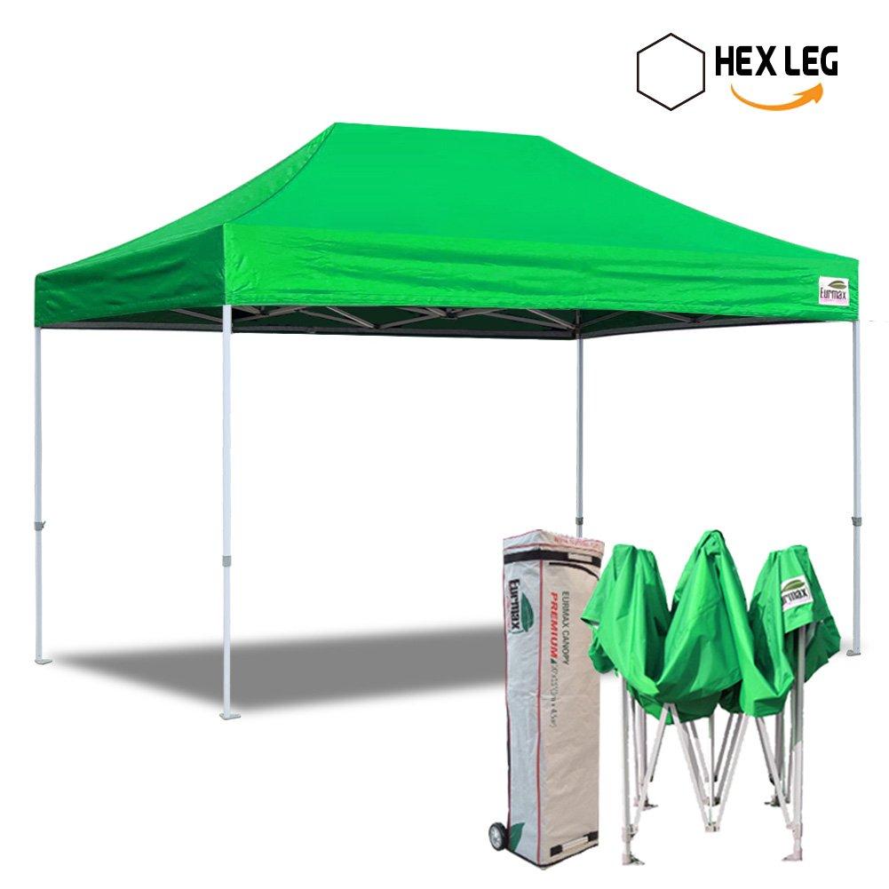 新しいEurmax 10 x 15 ftプレミアムEZ Pop UpキャノピーインスタントシェルターアウトドアパーティーテントGazebo商用グレードボーナスローラーバッグ Pre 10x15 w/o wall-Kelly green B00EUSPZGC  ケリーグリーン