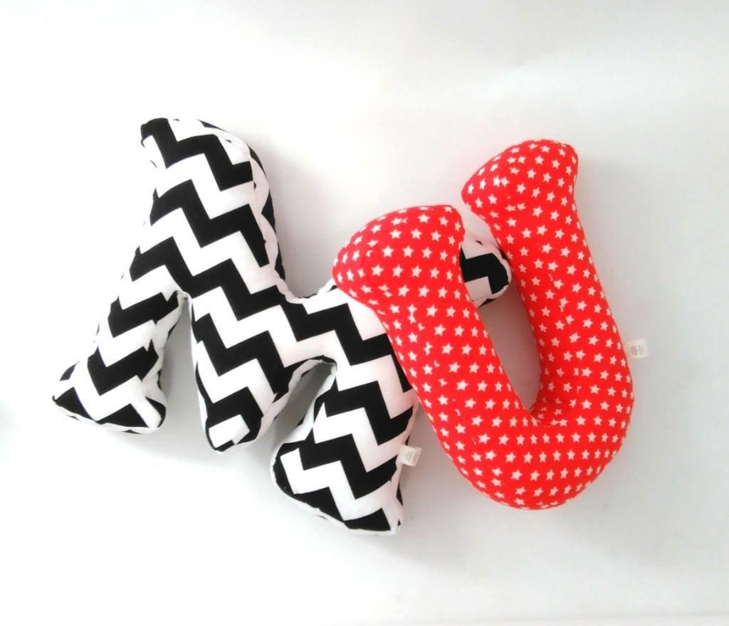 alphabet letter pillow, kids room decor, custom order