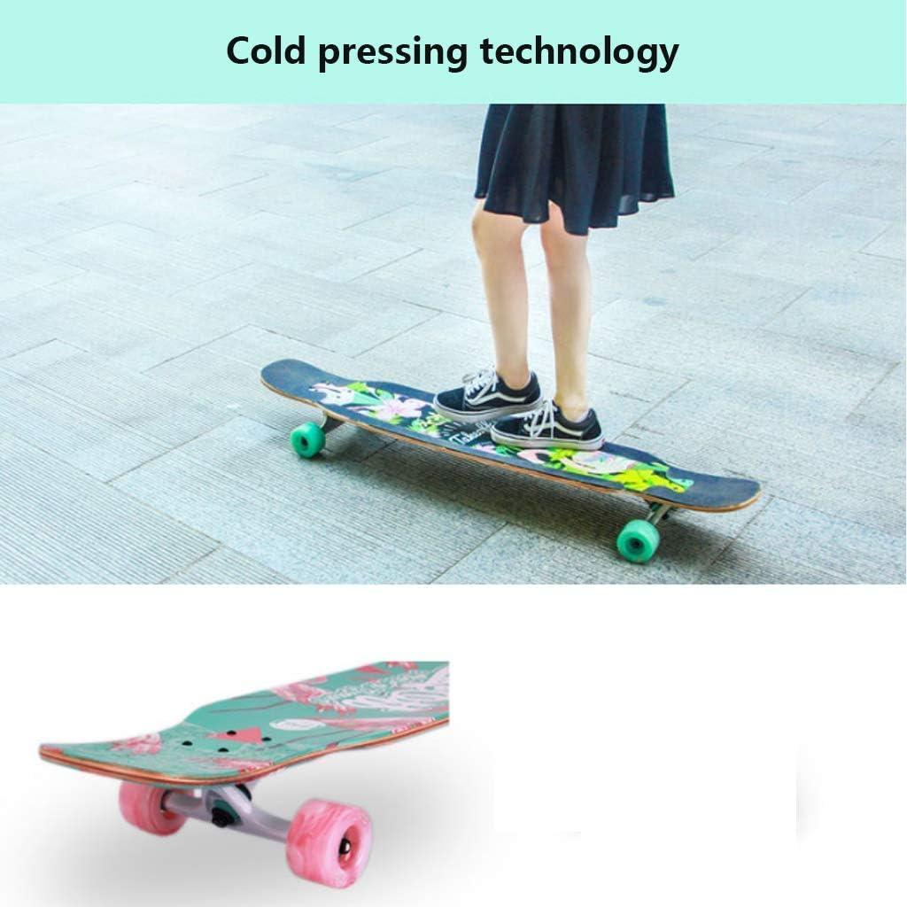 Jugendliche und Anf/änger Design NMDD Freestyle Longboard Skateboard Cruiser 46x9 Zoll Long Deck Maple Dancing Longboard f/ür Erwachsene