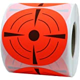Hybsk Target Pasters 3 Inch Round Adhesive Shooting Targets - Target Dots - Fluorescent Red and Black(1 roll)