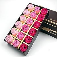 Jzhen 18 Pcs Flor Rosas de Jabón Color